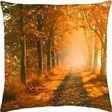 Misty orange - Throw Pillow Cover Case (18