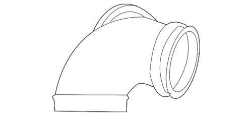 Genuine Mercedes-Benz Intermediate Pipe 275-098-15-16 ()