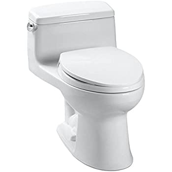Supreme One-Piece Round Toilet 1.28 GPF Cotton with SoftClose seat