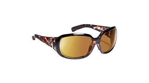 7eye Women's Mistral Resin Sunglasses,Leopard Tortoise Frame/SharpView Copper Lens,one size