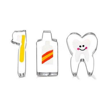 Dosige Molde de forma de cepillo de dientes,Molde de galleta de acero inoxidable,