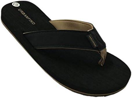f6d86cd0e0c URBANFIND Men's Casual Flip Flops Suede Thongs Slippers Beach Slides ...