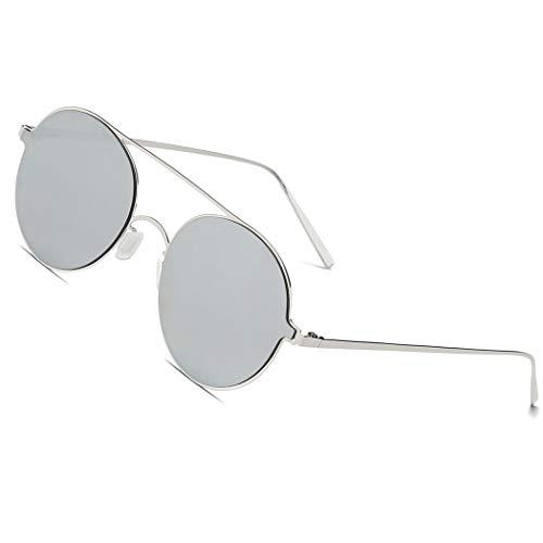 LKEYE Ultra-Light-Thin Sunglasses Unisex Round Style Small Memory Metal Frame LK1711
