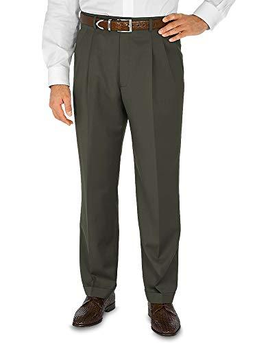 Paul Fredrick Men's Wool Gabardine Pant Olive 48 (Paul Trim Fredrick)