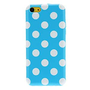 Ordinary Designed Round Dots Pattern TPU Case for iPhone 5C (Assorted Colors) --- COLOR:Red