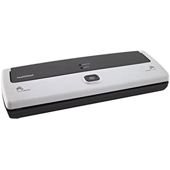Seal-a-Meal Manual Vacuum Sealer with compact design, hands-free, seal indicator lights, FSSMSL0160-000