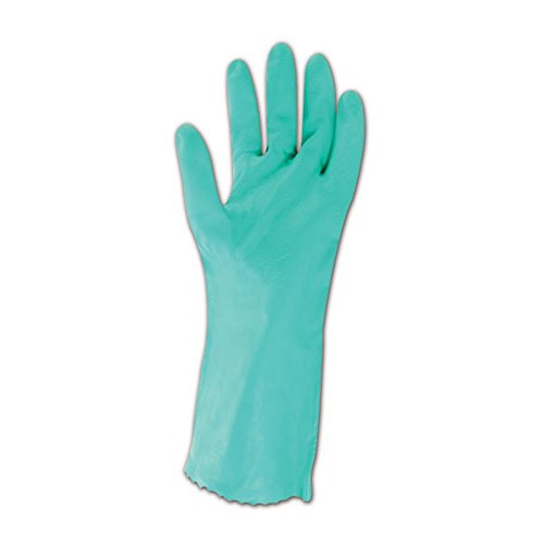 MAPA Stansolv AK-22 Nitrile Mediumweight Glove, Chemical Resistant, 0.033'' Thickness, 14'' Length, Size 10, Green (Bag of 12 Pairs) by MAPA Professional (Image #2)