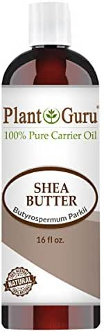 African Shea Butter Oil 16 oz. 100% Pure Natural Skin, Body And Hair Moisturizer. DIY Butters, Lotion, Cream, lip Balm & Soap Making Supplies, Eczema & Psoriasis Aid, Stretch Mark Product.