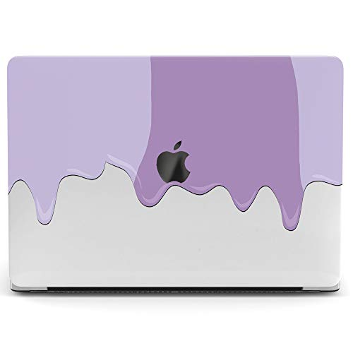 Wonder Wild Mac Retina Cover Case for MacBook Pro 15 inch 12 11 Clear Hard Air 13 Apple 2019 Protective Laptop 2018 2017 2016 2015 Plastic Print Touch Bar Paint Stains Drawing Purple Minimal Lavender -