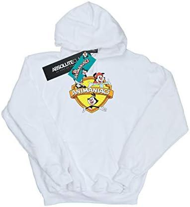 Absolute Cult Animaniacs Damen Logo Crest Kapuzenpullover Weiß Medium