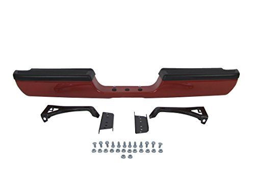 Flame Red Clear Coat (Painted Flame Red Clear Rear Step Bumper Full Assy (With TOP Pad, Outer Bracket, Inner Bracket, Hitch Bar, Plug, Screws) 94-01 Dodge Pickup Ram 1500 / 94-02 RAM 2500 3500 Pickup Ch1102332)