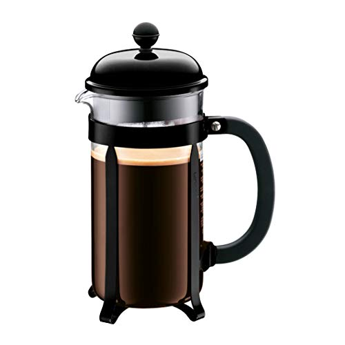 BODUM 1928-01 Chambord French Press Coffee Maker, 34 Oz, Black (Renewed)