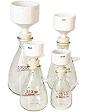 Buchnner Suction Filtration Kits, 150mm OD Porcelain Buchner Funnel, Heavy Wall Flask, 0.06Mp Vacuum Suction Filter
