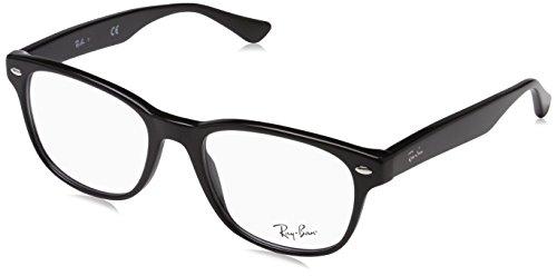 Ray-Ban RX5359 Square Eyeglass Frames, Shiny Black/Demo Lens, 53 mm (Ban Prescription Eyeglasses Clubmaster Ray)