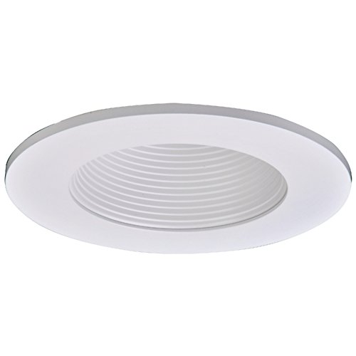 Halo TL411WB LED Trim, Frost Dome Polymer Lens, White Baffle, Matte White Ring, Shower Rated, 4""