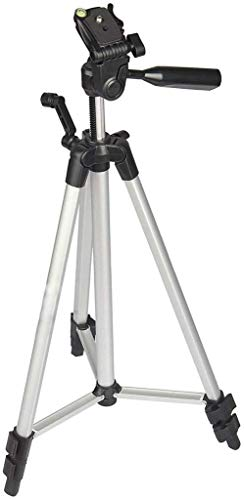 COOLMOBIZ 330A Portable Tripod Stand 3 Way Head for Digital Camera, Camcorder, with Mobile Holder Tripod Kit