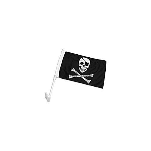AES Double-Sided Pirate Car Flag