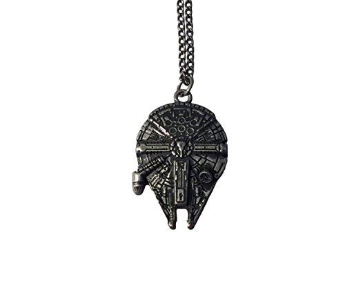 Star Wars Millennium Falcon Enamel Metal Pendant Chain Costume Necklace