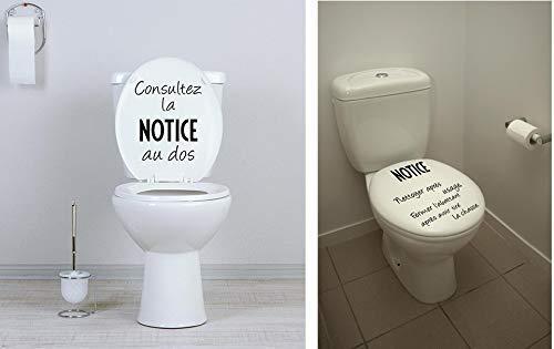 Sticker mural Beestick personnalisable modèle KIT cuvette WC ...