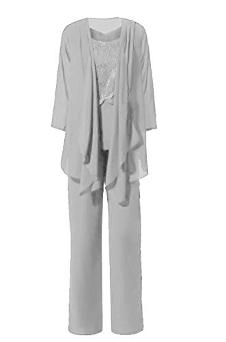 The Peachess Trouser Suits for Female Wedding Guests Size 26 Sliver