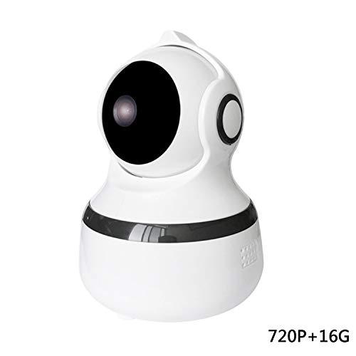 HUANGCHAO Cámara HD, Control Inteligente WiFi, 720P / 360 Grados Sin Ángulo Muerto/Antirrobo/Intercomunicador De Voz,...