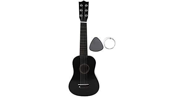 Amazon com: Kids Guitar, 21 inch Wooden Acoustic Guitar