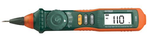 Extech 381676A Pen MultiMeter with Built-in NCV, Fully Loaded Pen-style Meter with 9 Functions, Auto/Manual Ranging Pen-style Multimeter, Large 2000 Count High Contrast LCD Display by Extech (Image #1)