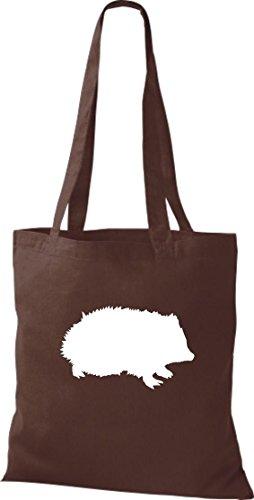 Bolsa de tela de animales zoo Natural wildness erizo Hedgehog Bolsa bandolera, muchos colores marrón