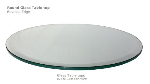 42'' Inch Round Glass Table Top 1/2'' Thick Tempered Beveled Edge by Fab Glass and Mirror by Fab Glass and Mirror (Image #1)