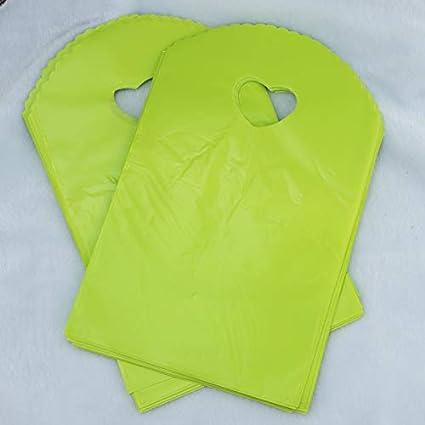 caa94aa60e0b Amazon.com: XLPD Wholesale 50Pcs Light Green Plastic Bag 13X21cm ...