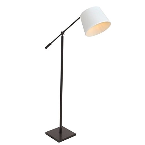 Lumisource Black Floor Lamp (WOYBR LS-L-PPR AN+CR Metal, Fabric Shade, Piper Floor Lamp)
