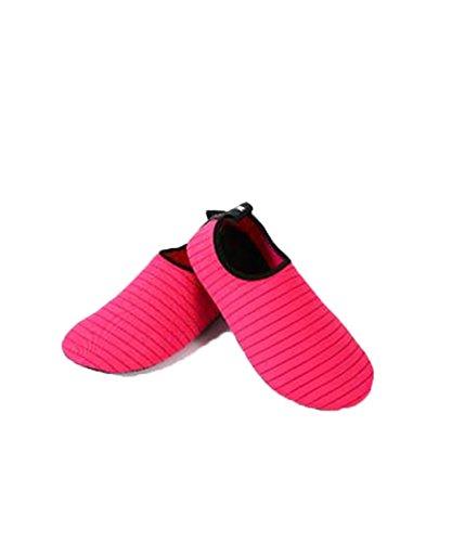 Zzlay Unisex Zapatos De Agua De Secado Rápido Calcetines Aqua Descalzo Beach Swim Pool Surf Yoga Ejercicio Rojo