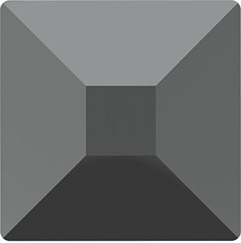 2403 Swarovski Flatback Crystals Hotfix Pyramid | Jet Hematite | 4mm - Pack of 720 (Wholesale) | Small & Wholesale Packs