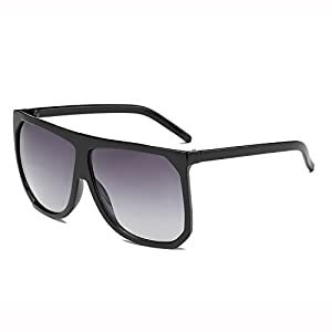 Amomoma Men Women Flat Top Oversized Sunglasses Mirrored Lens AM2004 2005 2006