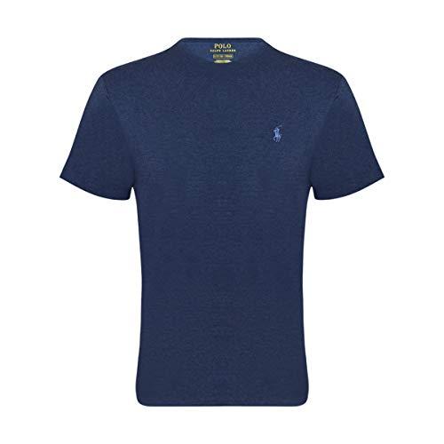 RALPH LAUREN Mens Pony Logo T-Shirt (Large  Spring Navy)