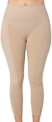 Leonisa Invisible High Waisted Super Comfy Compression Tummy Control Slimming Capri Shaper Leggings