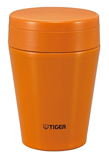 Tiger MCC-C038-DC Stainless Steel Vacuum Insulated Soup Cup, 12-Ounce, Carrot Orange