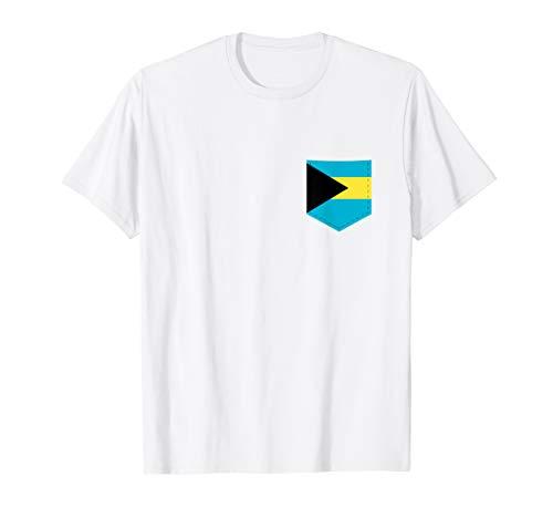 The Bahamas Flag T-Shirt with Printed Bahamian Flag Pocket