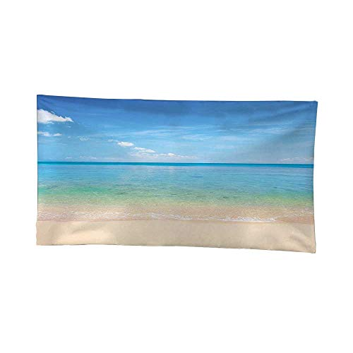 - Apestry Home Decor (60W x 40L Inch) Wall Hanging Bedroom Living Room DormOcean Island Seashore Beach Sandy Photo Clear Bright Sunny Sky Image Cream Sky Blue Turquoise.