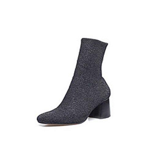 Balamasa Womens Pull À Bout Pointu Tpr Chaussures En Daim Gris