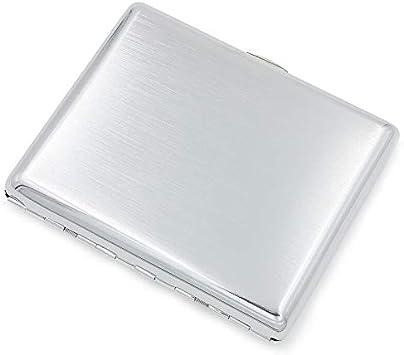 Estuche de Metal portátil para Cigarrillos Proceso de trefilado de 20 Piezas, diseño Elegante a Prueba de Humedad y Resistente a la presión: Amazon.es: Equipaje