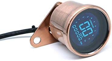 L.P.L タコメータDC 12VオートバイLED LCDデジタルタコメータースピードメーター走行距離ゲージ