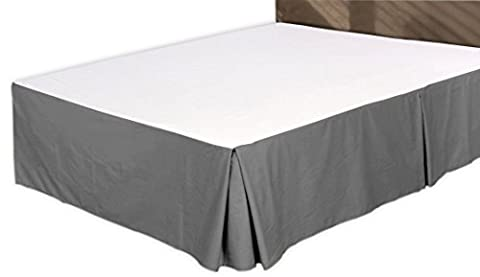 Premium Cotton Bed-Skirt (Twin, Grey) - 100% Finest Quality Long Staple Fiber - Durable, Comfortable and Abrasion Resistant, Quadruple Pleated, Cotton Blended Platform - By Utopia (Bedskirt For Twin Bed)