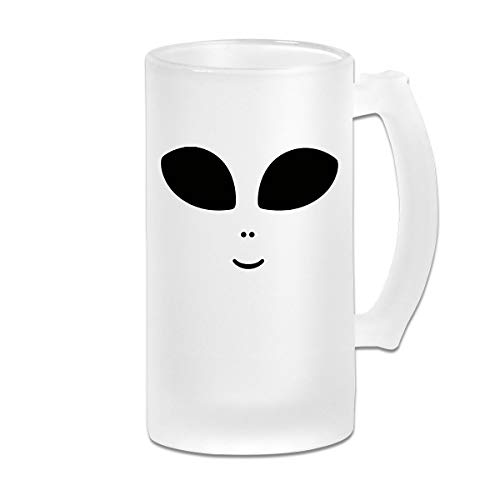 (Halloween Costume Cute Alien Beer Mug Frosted Glass Stein Beer Cup For Celebration New Year)