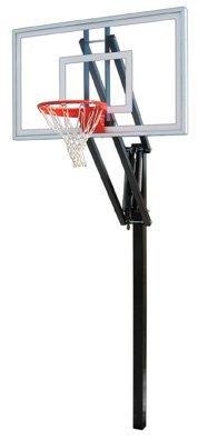 最初チームベクトルNitro steel-glass in ground調整可能バスケットボールsystem44、グレー B01HC0C19I