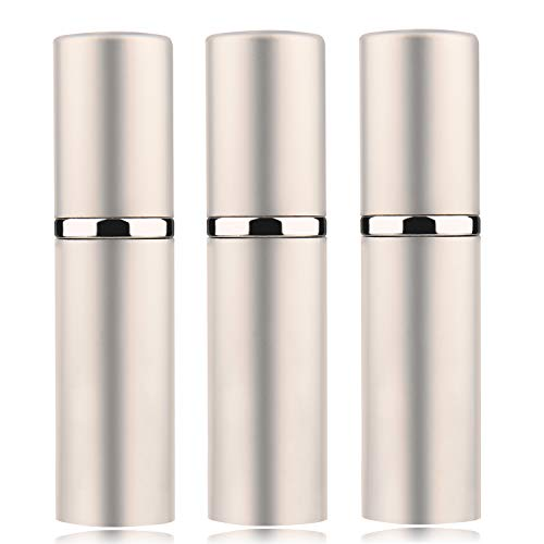 3Pcs 10ML Portable Mini Refillable Perfume Scent Aftershave Atomizer Empty Refillable Spray for Purse or Travel - Silver Refillable