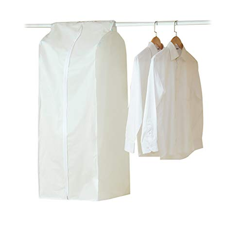 QEES Garment Rack Cover, White Garment Bags for Storage, Clothing Storage Bags, Clothing Dust Hanging Storage Protector YFZ01