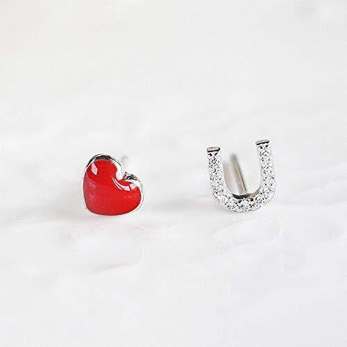 Women Metal I Love U Shape Ear Stud Fashion Jewelry Stud Earrings Gift - Jlo Womens Metal