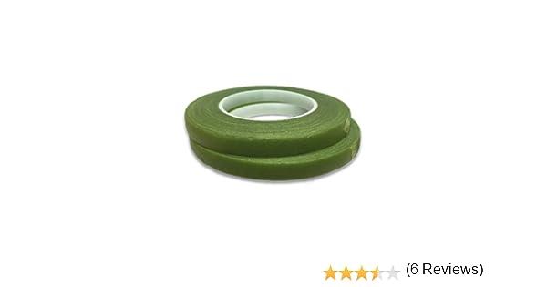 6 mm de Ancho Hamilworth Cinta de florister/ía para decoraci/ón de Pasteles y az/úcar Color Verde Oliva y Musgo