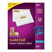 "Etiquetas de dirección Avery Gold para impresoras de inyección de tinta, 3/4 ""x 2-1 /4"", 300 etiquetas (8987)"